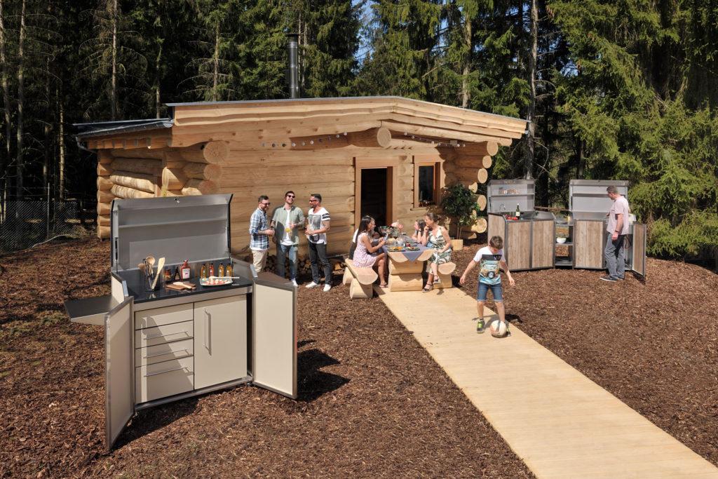 stengel outdoorküche blockhaus steelconcept miniküche