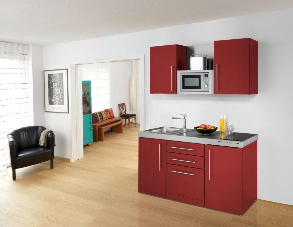 stengel miniküche 170cm premiumline rot